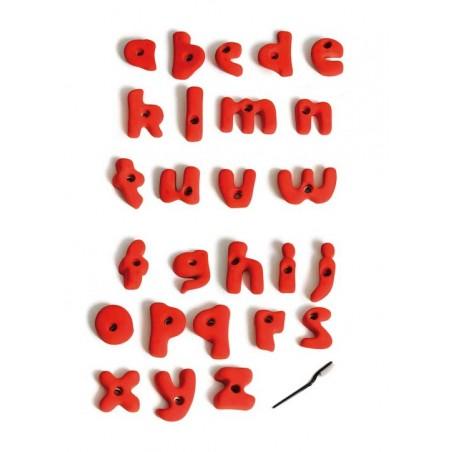 prises escalade enfant forme lettres alphabet