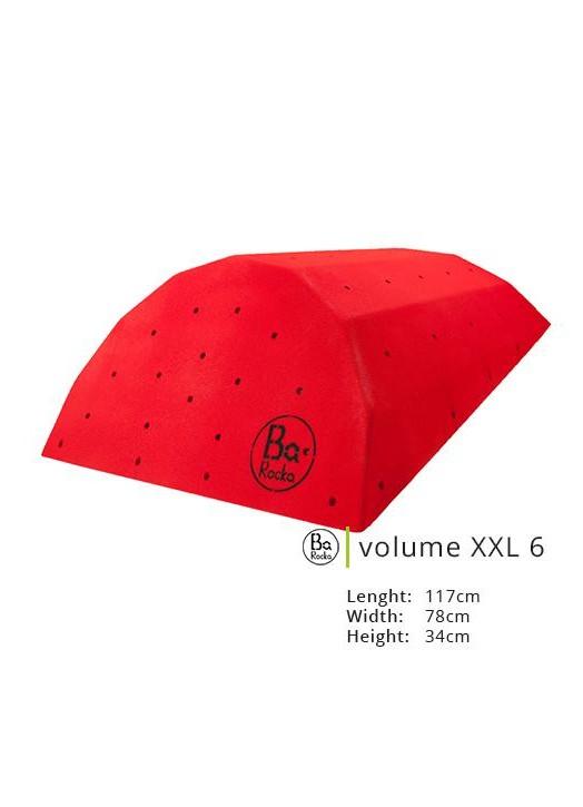Tres grande volume d'escalade en bois.  Presenter en rouge, mais existe en plusieurs couleurs.  Respect de l'environnement