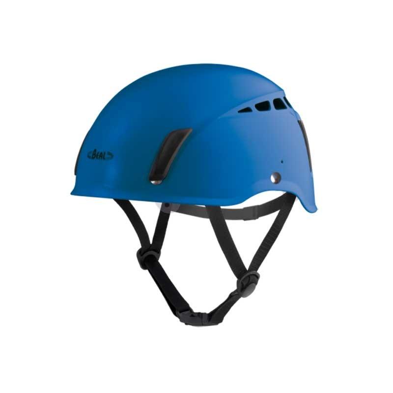 casque escalade bleu