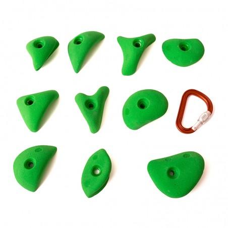 10 mini bacs avec prehensions faciles pour l'escalade indoor
