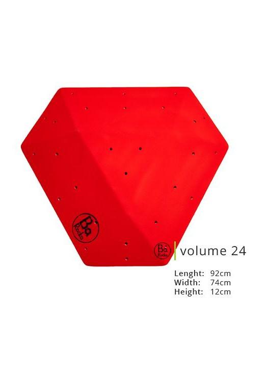Cette forme unique de Barocka a une finition parfait.  Presenté en rouge il exite en huit couleurs standards