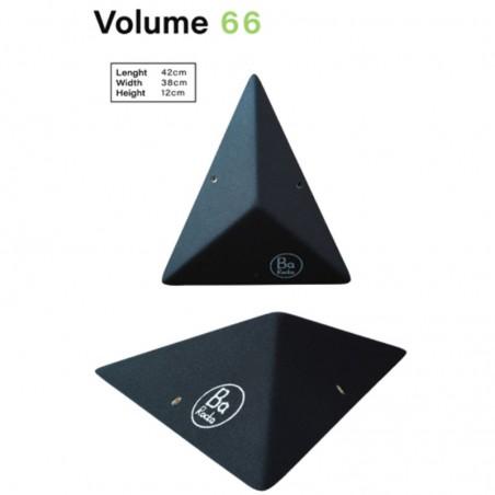triangle aplati pour ce petit module d'escalade barocka