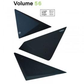 volume geometrique en bois pour l'escalade