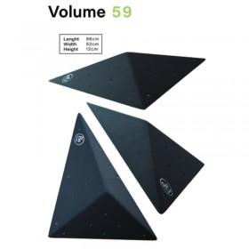 volume en bois grain abrasif en triangle