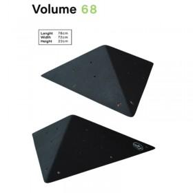 Volume en bois pyramidale