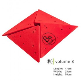 Volume 8, présenter en rouge de taille  47cm x 25cm x 10cm