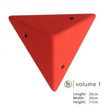 Volume triangulaire de chez Barocka : dimensions : L : 26cm L : 26 cm H : 11 cm